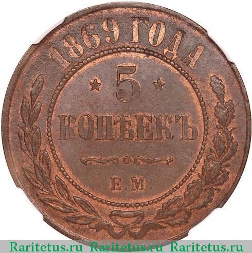 3 копейки 1869г: