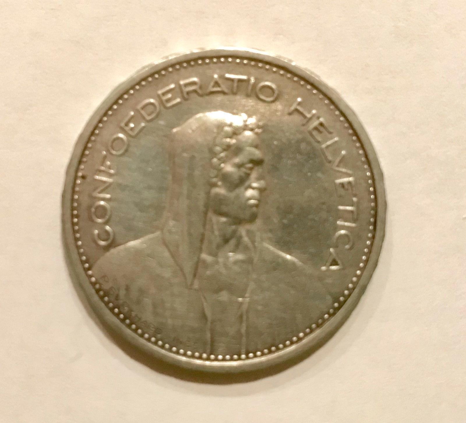 1932 swiss 5 franc coin
