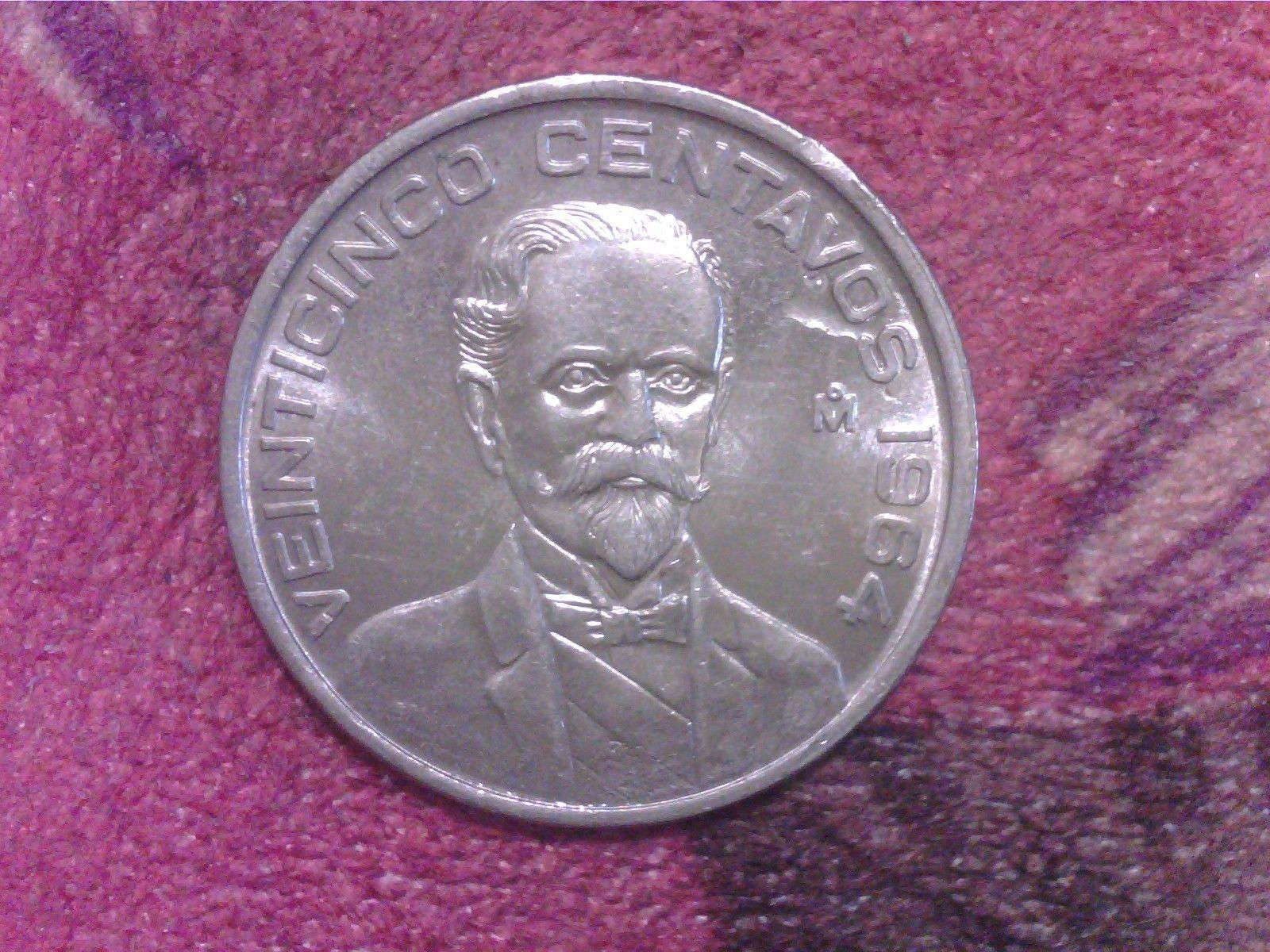 1964 Mexico 25 Centavos