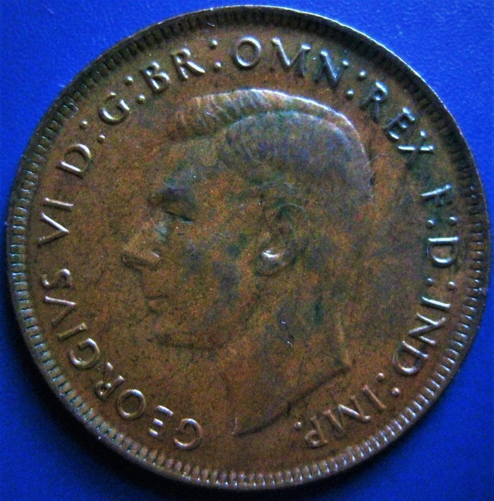 Цена монеты 1 пенни (penny) 1945 года Австралия: стоимость по