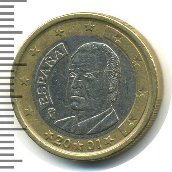 1 евро 2001 года цена испания два рубли монета 1722 серебро цена